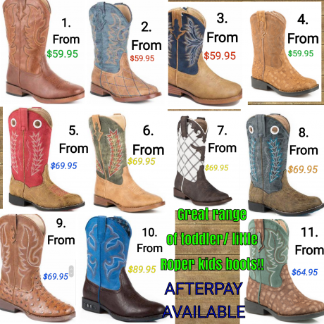 Toddler and KIds Roper Boots