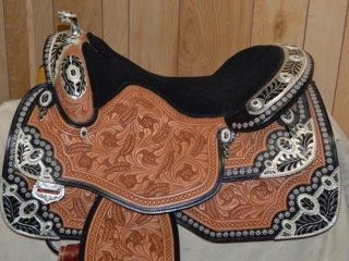 Custom Dale Chavez Silver Show Saddle