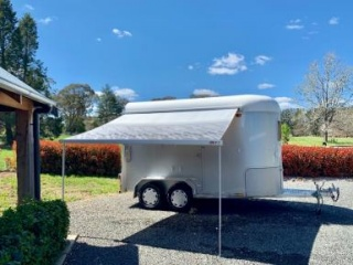 Pegasus eventer 2 horse angle float with kitchen